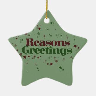 Atheist Reasons Greetings Ceramic Ornament