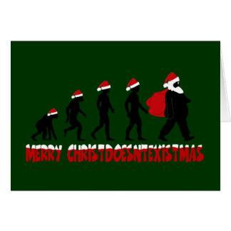 Atheist Santa Greeting Card