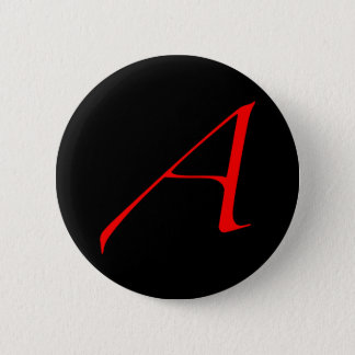Atheist Scarlet A Button
