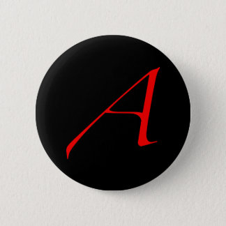 Atheist Scarlet Letter Button