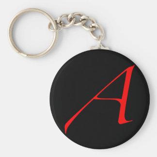 Atheist Scarlet Letter Keychain