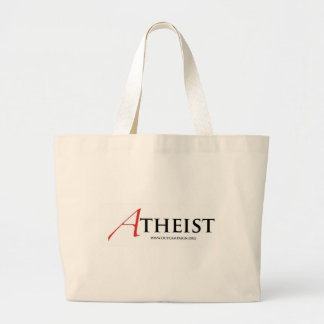 Atheist (Scarlet Letter) Large Tote Bag