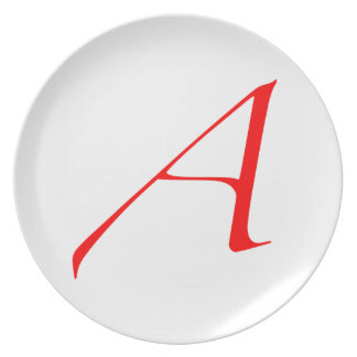 Atheist Scarlet Letter Plate