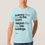 Atheist - Science Flies to the moon Shirt