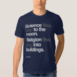 Atheist - Science Flies to the moon T Shirt