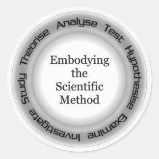 Atheist Scientific Method Acronym Classic Round Sticker