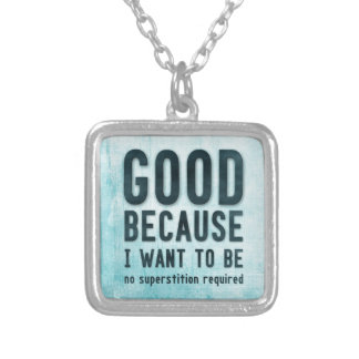 Atheist, skeptic silver plated necklace