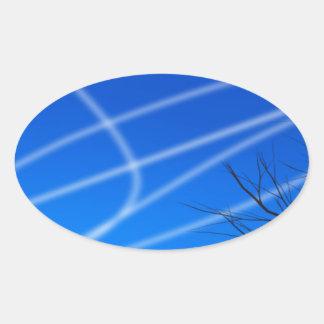 Atheist Sky Oval Sticker