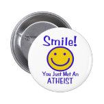 Atheist Smiley 2 Inch Round Button