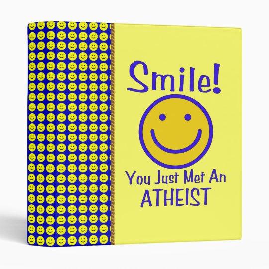 Atheist Smiley 3 Ring Binder