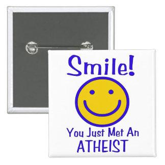 Atheist Smiley Button
