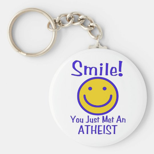 Atheist Smiley Keychain