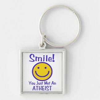 Atheist Smiley Keychain