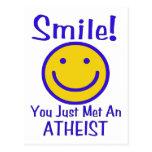 Atheist Smiley Postcard