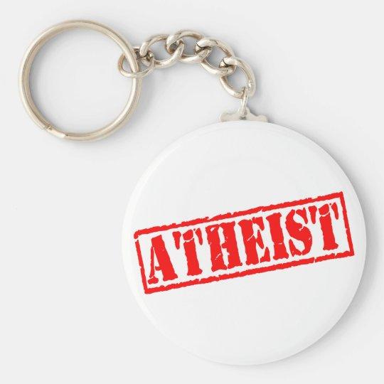 Atheist Stamp Keychain