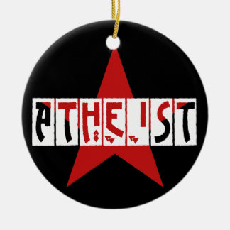 Atheist Star Ceramic Ornament