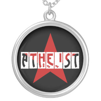 Atheist Star Round Pendant Necklace