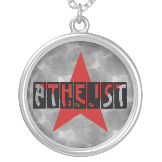 Atheist Star Silver Plated Necklace