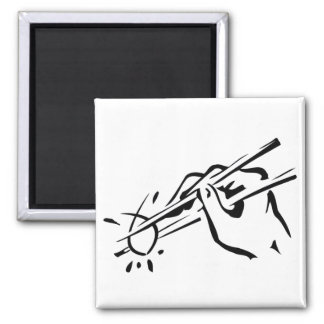 Atheist  Sushi! (ichthys) 2 Inch Square Magnet