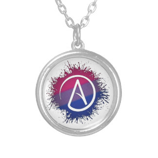 Atheist Symbol - Bisexual Personalized Necklace