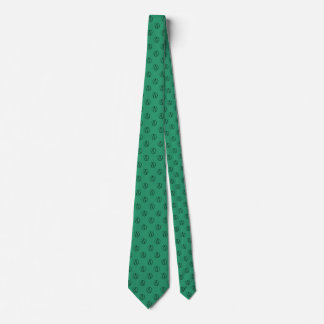 Atheist symbol: black on green tie