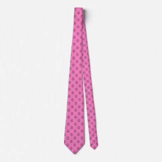 Atheist symbol: black on light pink neck tie