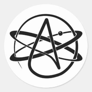 Atheist Symbol Classic Round Sticker