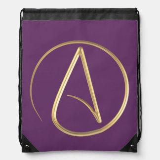 Atheist Symbol Drawstring Backpack
