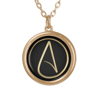 Atheist Symbol Gold Plated Necklace