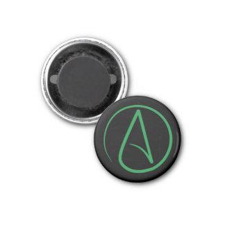 Atheist symbol: Green on black Magnet