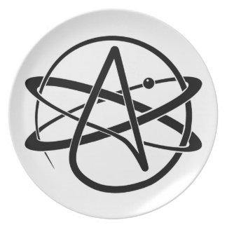 Atheist Symbol Melamine Plate