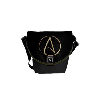Atheist Symbol Messenger Bag