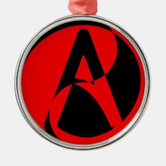 Atheist symbol metal ornament