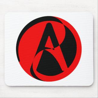 Atheist symbol mousepads