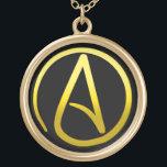 "Atheist Symbol Necklace<br><div class=""desc"">Atheist Symbol Necklace</div>"