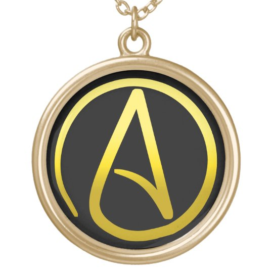 Atheist Symbol Necklace Zazzle