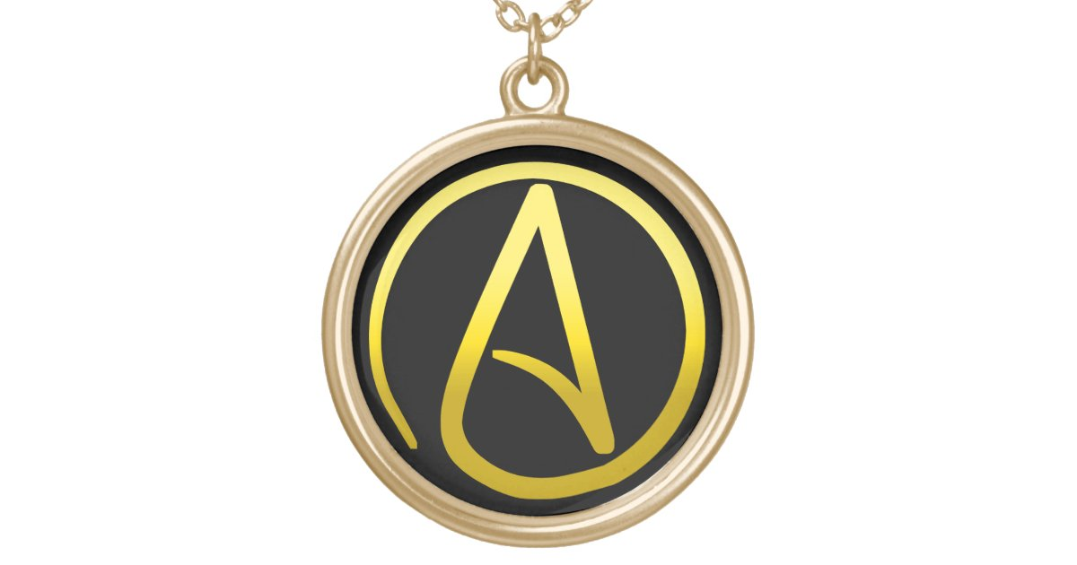 Atheist Symbol Necklace Zazzle