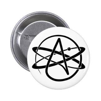 Atheist Symbol Pinback Button