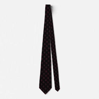 Atheist symbol: pink on black tie