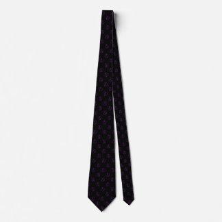 Atheist symbol: purple on black tie