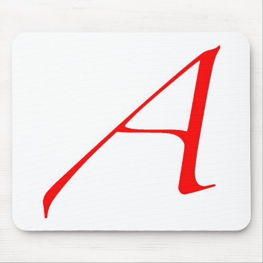 Atheist Symbol (Red A) Mouse Pad