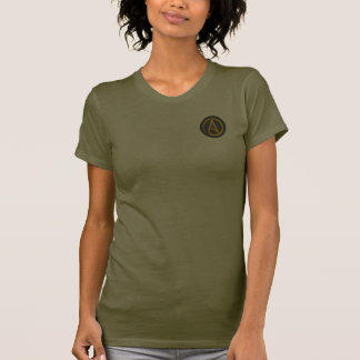 Atheist symbol (small logo) women's t-shirt