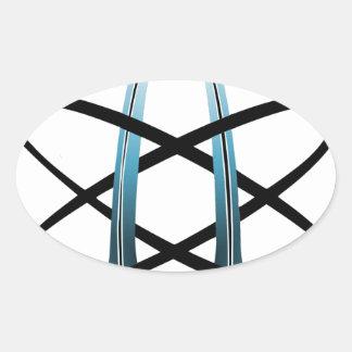 Atheist Symbol Oval Sticker