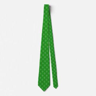 Atheist symbol: white on green tie