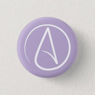 Atheist symbol: white on lavender button