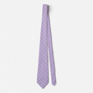 Atheist symbol: white on lavender tie
