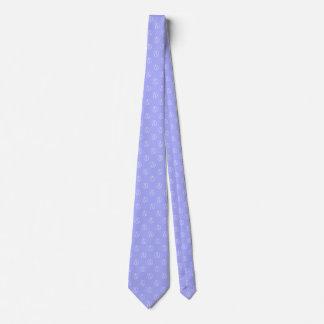 Atheist symbol: white on periwinkle tie