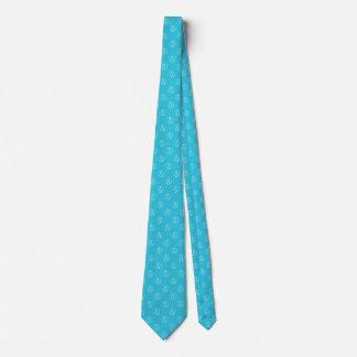 Atheist symbol: white on sky blue tie