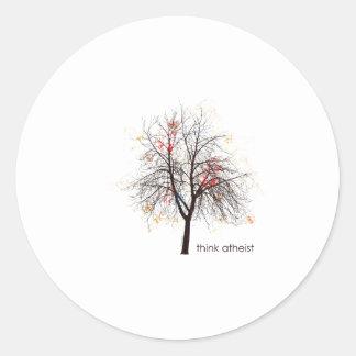Atheist Tree Classic Round Sticker