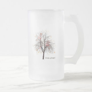 Atheist Tree Frosted Glass Beer Mug